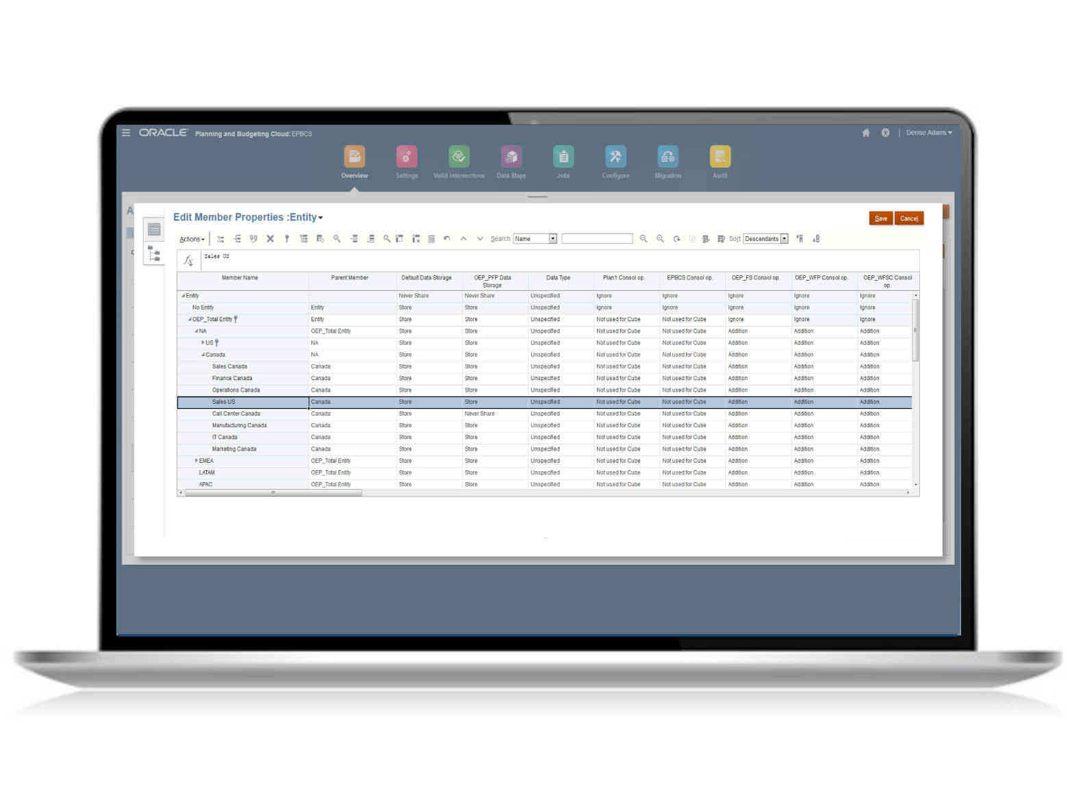Enterprise data - EDMCS